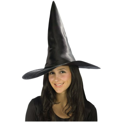 Deluxe Satin Witch Hat Costume Accessory
