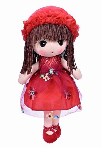 HWD Kawaii Flower Fairy Stuffed Soft Plush Toy Doll Girls Gift  18 Inch  Red