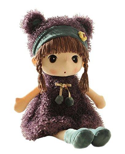 HWD Lovely Huggable 17 inch Stuffed Plush Girl Toy DollGood Gift For kids baby loverPurple