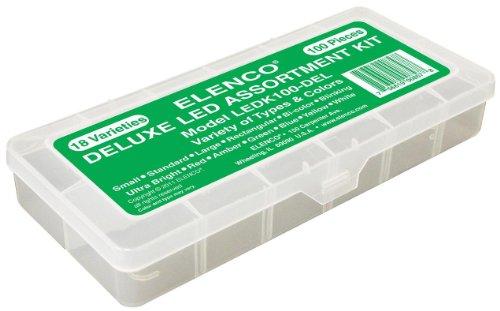 Elenco Electronics LEDK-100DEL 100 pc LED Component Kit in Plastic Case