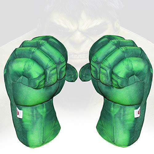 1 Pair Toy Hulk Gloves Very Light Big Soft Plush Gloves Hulk Hands Toys Smash Parent-Child Interactive Toy Accessories Hulk Hands Toys
