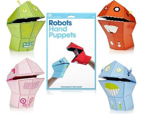 Set of 4 Robot Hand Puppets