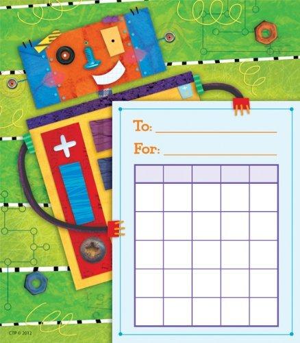 36 x Riveting Robots Design Childrens Reward Chart Pad by CTP
