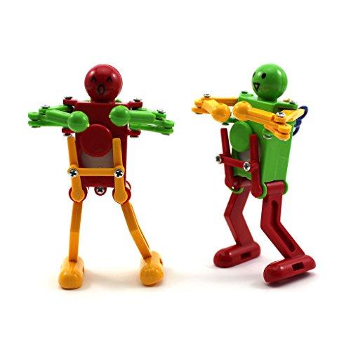 1Pcs Funny Baby Kids Developmental Gift Clockwork Wind Up Dancing Robot Toy Game