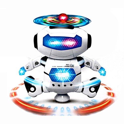 Leewa Electronic Walking Dancing Smart Space Robot Astronaut Music Light Toys for Kids