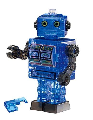 39 piece Crystal puzzle tin robot Blue