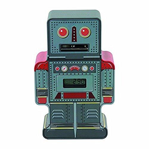 Cute Vintage Style Tin Robot Savings Box