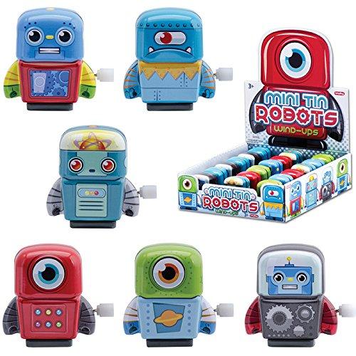 Mini Tin Wind Up Robots Sold Individually - Styles Vary