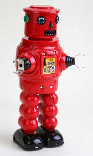 Vintage Style 8 Tin Robot Red W Black
