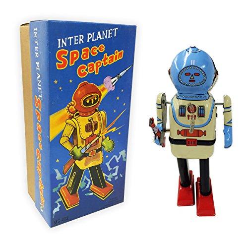 Vintage Style Inter Planet Space Captain Tin Robot