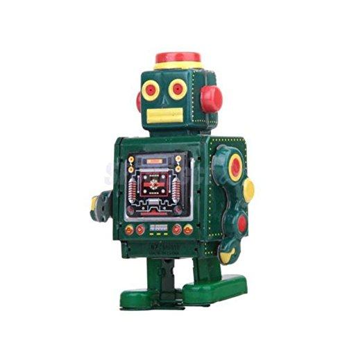 Vintage Wind Up Clockwork Walking Tin Robot