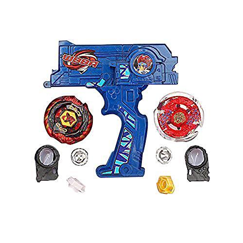 Yosoo Hybrid 2 Beyblade Metal Fusion Beyblade Rapidity Fight Masters Set Toy GiftBlue