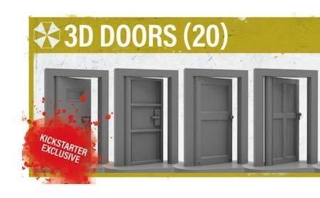 Resident Evil 2 The Board Game - 3D Door Upgrade Kickstarter Exclusive