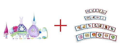 DreamWorks Trolls Poppys Stylin Pod Playset and Paw Patrol Look A Likes Matching Board Game - Bundle