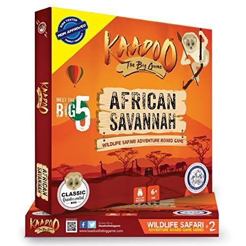 KAADOO Explore African Savannah-Migration Mania-Wildlife Safari Adventure-Educational Family Fun Board Game for 6 Year Old 2-4 Players