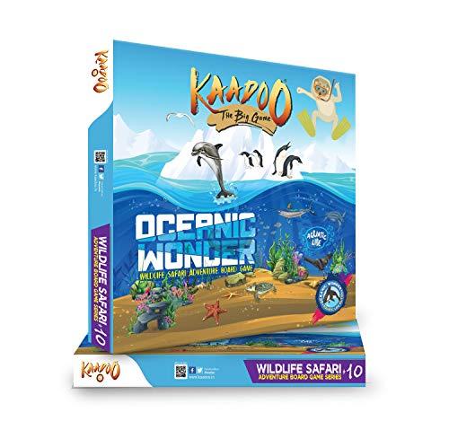 KAADOO Oceanic Wonder-Ocean Safari Adventure-Educational Family Fun Board Game for 6 Year Old 2-4 Players