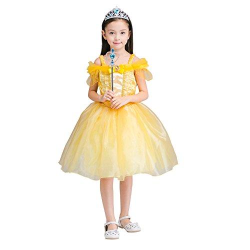 Drmama Litter Girls Princess Dress Costume Halloween Party Fancy Cosplay Dress
