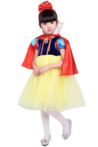 YMING Girls Snow White Costume Halloween Cosplay Princess Dress 2-3 Years