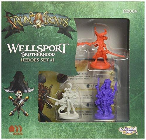 Rum and Bones Wellsport Brotherhood Hero Board Game by Cool Mini or Not