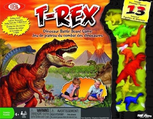 Ideal T-Rex Dinosaur Battle Board Game