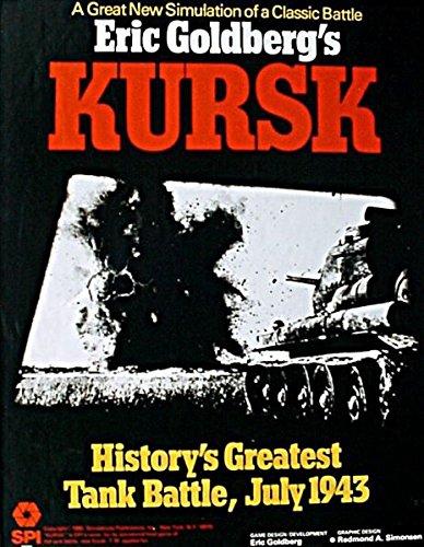 SPI Kursk Historys Greatest Tank Battle Board Game 1980 Version