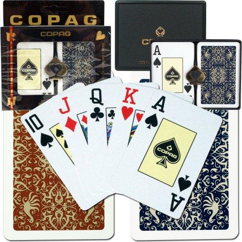 Copag Bridge Size Jumbo Index - Gold Line Script Setup Playing Cards Multi