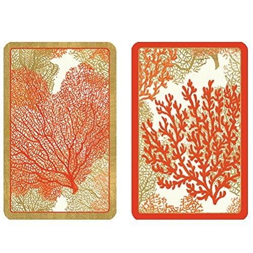 Playing Cards 2 Decks of Sea Fans Bridge Cards PC113 Caspari