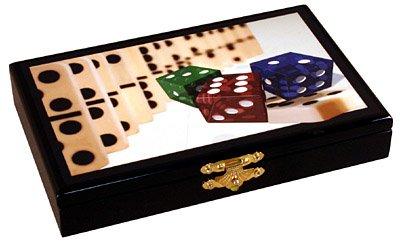 Double 6 Dominoes in deluxe wooden case - 28 tiles