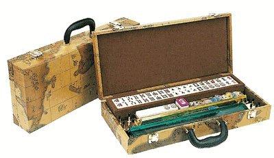 4 Pushers and Brand New Complete American Mahjong Set in World Map Case 166 TilesMah Jong mah Jongg Mahjongg