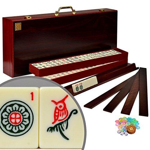 American Mahjong Mah Jongg Mahjongg 166 Tiles All-in-One RacksPushers Set - The Classic Royal II by Yellow Mountain Imports