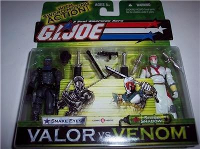 GI JOE - Valor Vs Venom - Snake Eyes vs Storm Shadow - Action Figure Pack