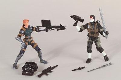GI Joe vs Cobra Agent Scarlett vs Black and White Storm Shadow Action Figure Set by G I Joe