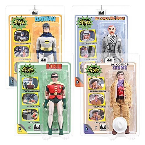 Batman Classic TV Series 8 Inch Action Figures Series 3 Set of all 4 Figures by Figures Toy Company
