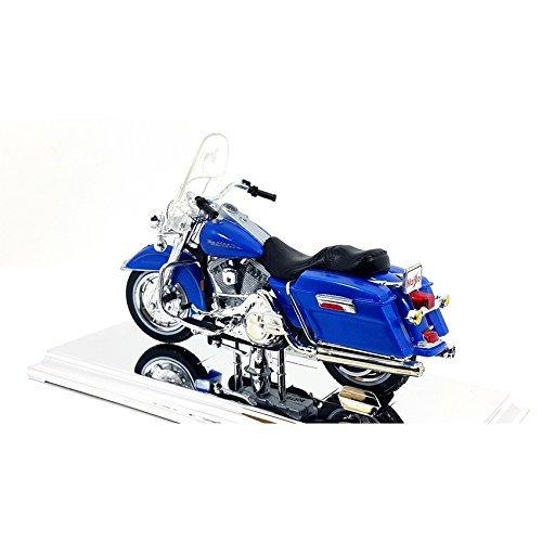 Maisto Car Model HARLEY DAVIDSON FLHR Road King 1997 Blue Scale 118