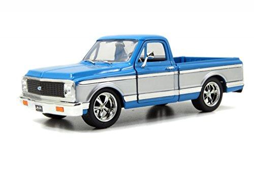 Jada 1972 Chevy Cheyenne Pickup Truck 124 Scale Diecast Model Car BlueSilver