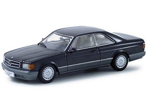 Mercedes 500 SEC W126 BlueBlack Metallic 143 Autoart Diecast Car Model 56211
