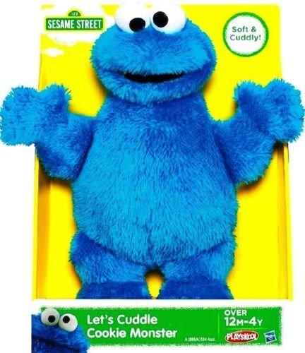 Playskool Sesame Street Let Cuddle Cookie Monster Plush Toy By Hasbro 25Cm10 Inch
