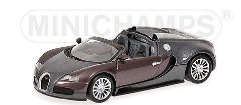 BUGATTI VEYRON GRAND SPORT 2009 GREY  GREY Diecast Model Car in 143 Scale by Minichamps