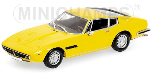 MASERATI GHIBLI COUPE 1969 in YELLOW Diecast Model Car in 143 Scale by Minichamps