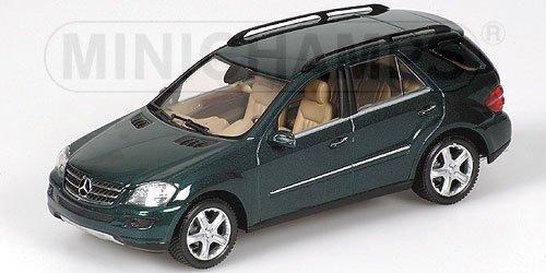 MERCEDESBENZ M CLASS 2005 GREEN METALLIC Diecast Model Car in 143 Scale by Minichamps