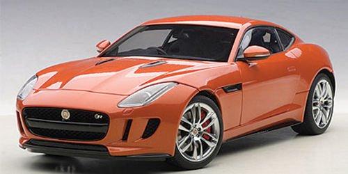 Jaguar F-Type R Coupe metallic dark orange RHD 2015 Model Car Ready-made AutoArt 118