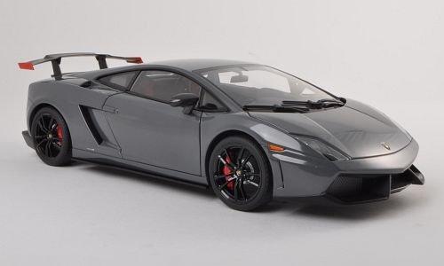 Lamborghini Gallardo LP570-4 super Trofeo Stradale metallic-greyblack 2011 Model Car Ready-made AutoArt 118