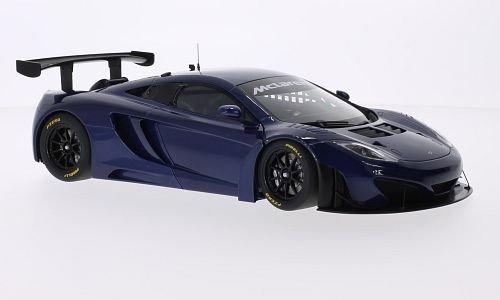 McLaren MP4-12C GT3 metallic-blue RHD 2011 Model Car Ready-made AutoArt 118