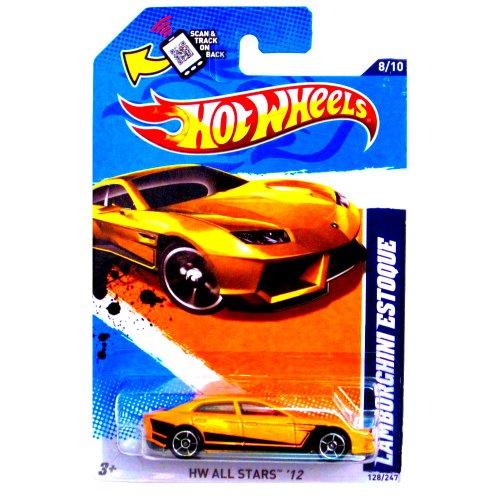 Hot Wheels Lamborghini Estoque Yellow HW All Stars 12 128247 Collectible Die-cast 164 Scale Model