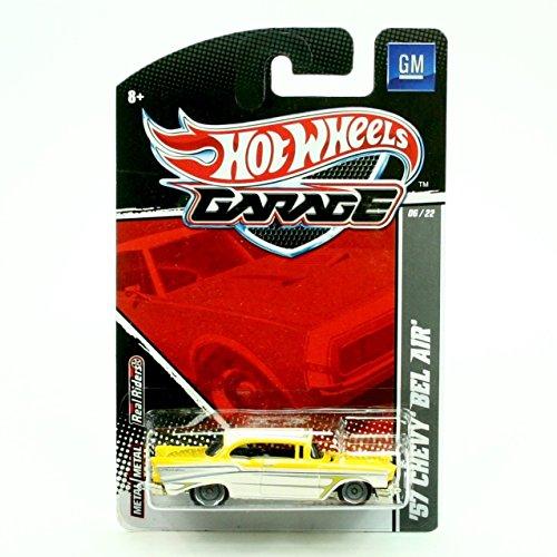 57 Chevy Bel Air Metallic Pearl Yellow White  2011 Hot Wheels Garage  164 Scale Die-Cast Vehicle GM 0622