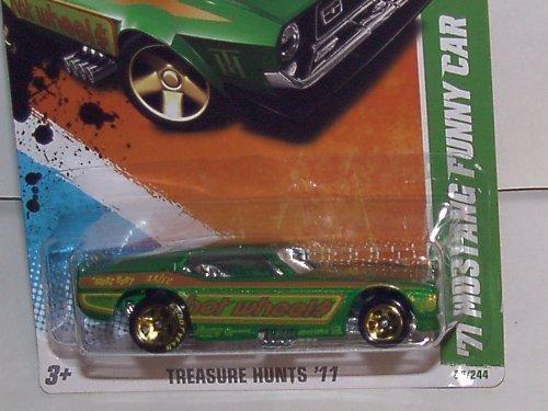 2011 HOT WHEELS 164 SCALE 71 MUSTANG FUNNY CAR TREASURE HUNT 1015