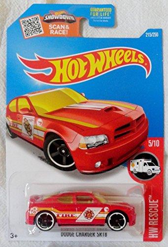 2016 Hot Wheels Treasure Hunt Hw Rescue 510 - Dodge Charger SRT8