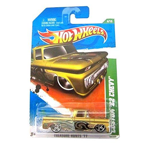 Custom 62 Chevy 11 Hot Wheels Treasure Hunts 54244 Gold Vehicle