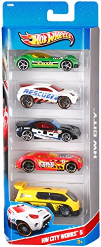Hot Wheels 5 Car Gift Pack Styles May Vary