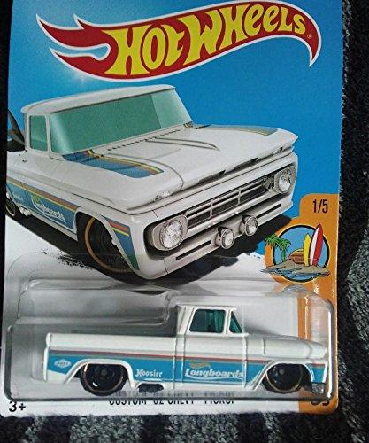Hot Wheels 2017 Surfs Up Custom 62 Chevy Pickup 348365 White